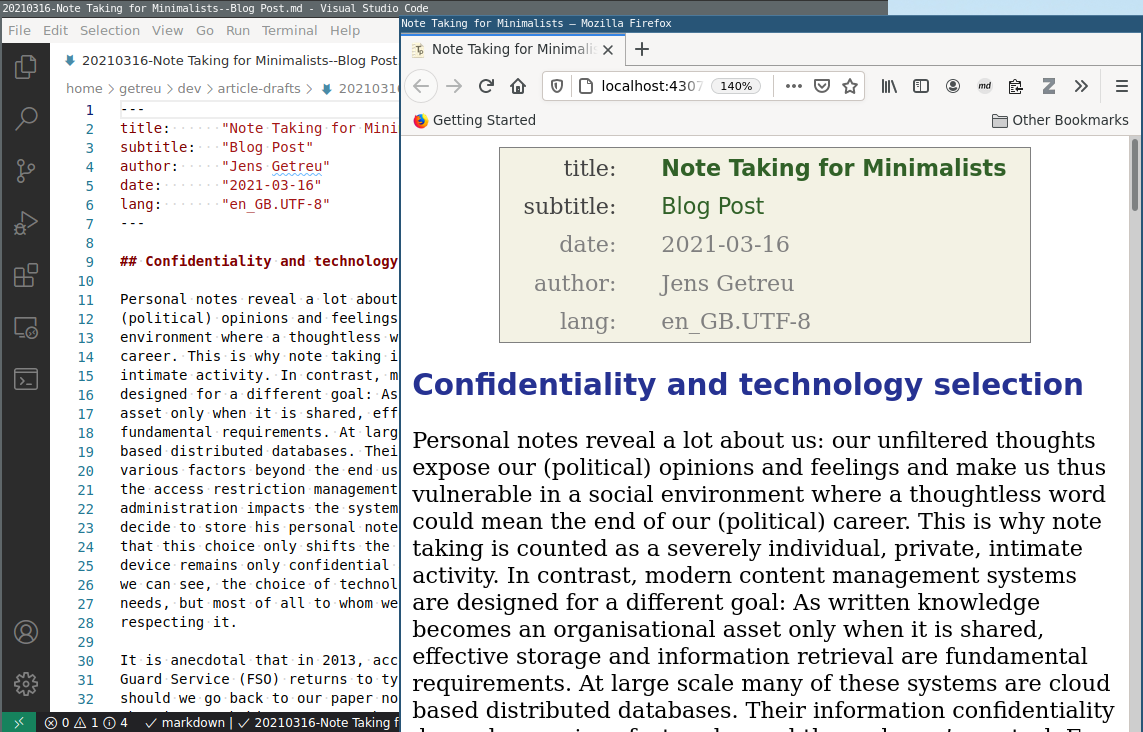 Tp-Note with text editor and Internet browser